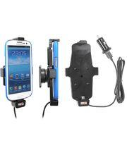 Brodit držák do auta na Samsung Galaxy S4, S III i9300 v pouzdru, s nabíjením z CL/USB, s pružinou