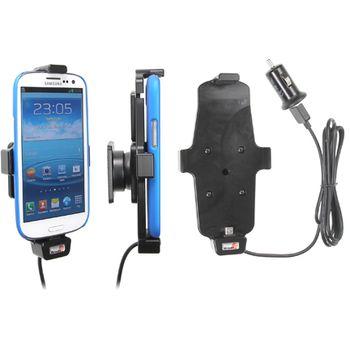 Brodit držák do auta pro Samsung Galaxy S4, S III i9300 v pouzdru s nabíjením Belkin do zapalovače + adaptér pro snadné odebrání držáku z proclipu