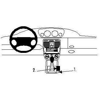 Brodit ProClip montážní konzole pro Lancia Y 96-03, na středový tunel