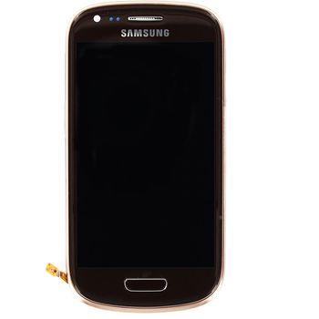 Náhradní díl LCD displej + dotyk + přední kryt pro Samsung i8190 Galaxy S III mini, hnědý