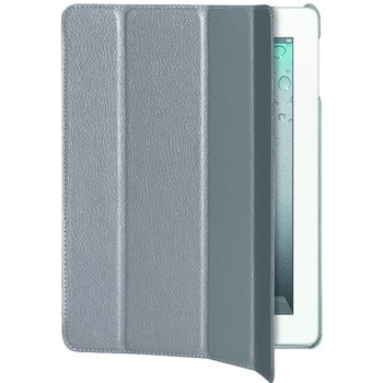 PURO pouzdro Booklet ZETA s magnetickým otevíráním pro nový iPad/iPad 2 - bílá
