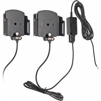 Brodit držák do auta na mobilní telefon s USB-C nastavitelný se skrytým nab. š.62-77 mm, tl.6-13mm