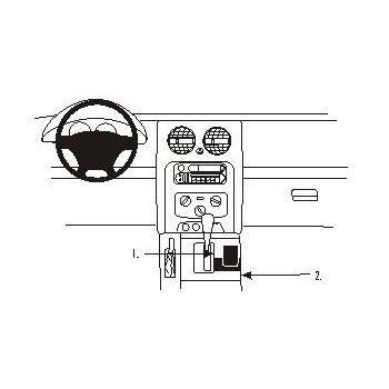 Brodit ProClip montážní konzole pro Jeep Cherokee 02-08, střed. tunel